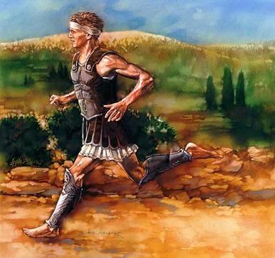 Greek marathon runner